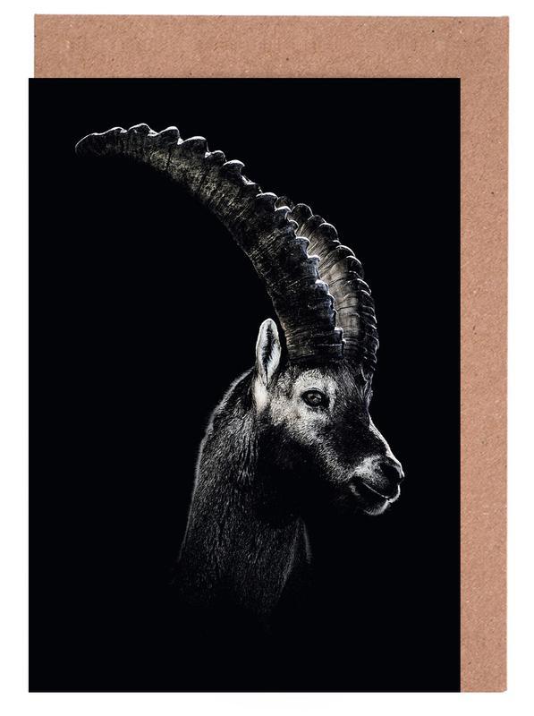 Dark Capricorn Greeting Card Set