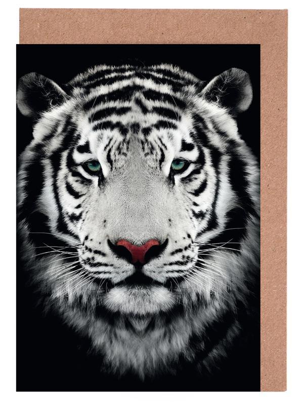 Dark Bengal Tiger Greeting Card Set