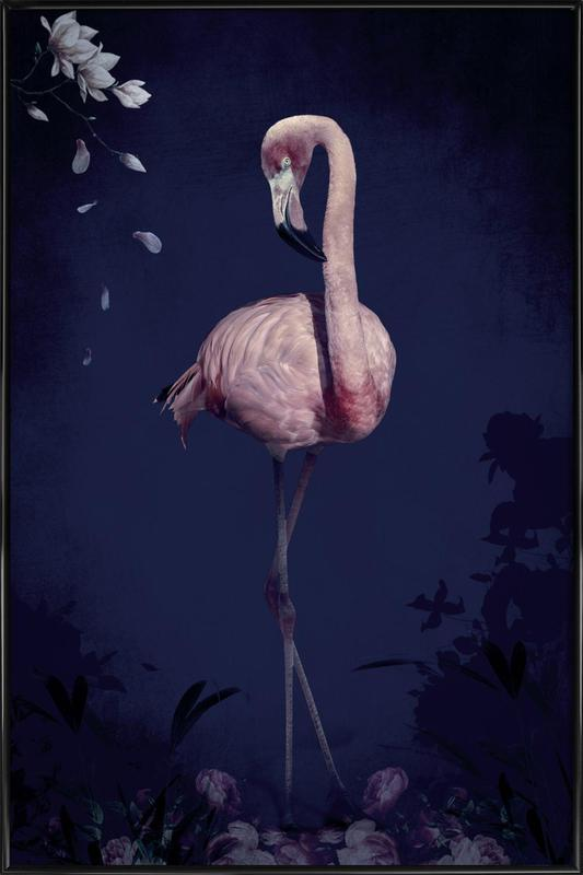 Flamingo -Bild mit Kunststoffrahmen