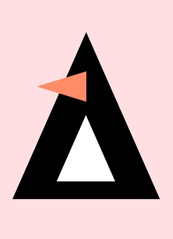 Cher the Penguin Leinwandbild | Dekoration > Bilder und Rahmen > Bilder | Mehrfarbig | Holz