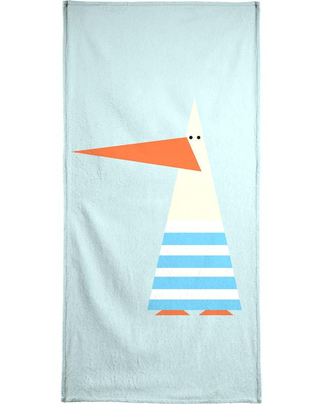 Ringo the Seagull Bath Towel