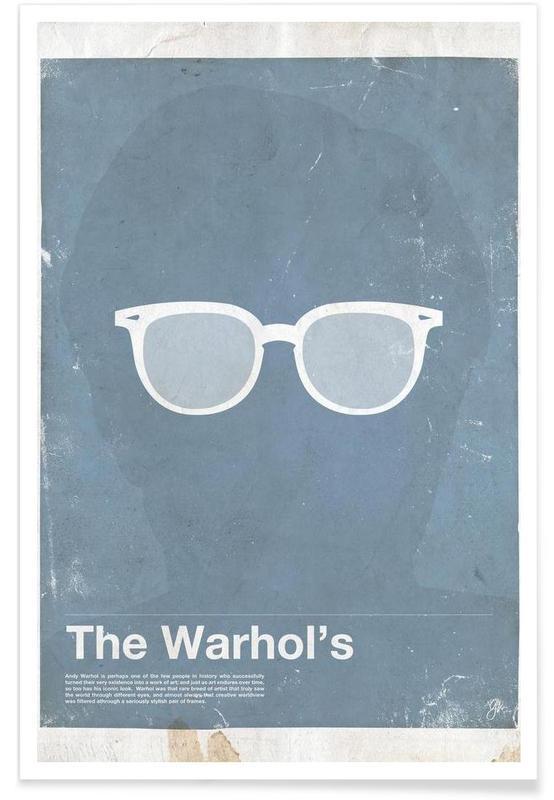Lunettes de Andy Warhol affiche