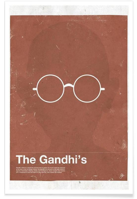 Lunettes de Gandhi affiche