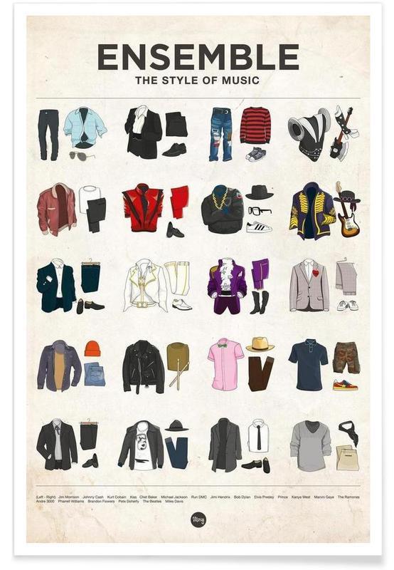 Styles de mode célèbres affiche