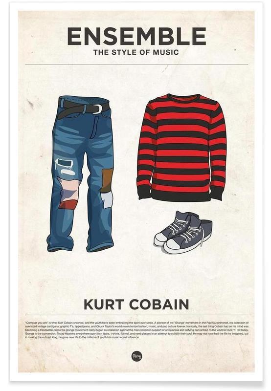 Style vestimentaire de Kurt Cobain affiche