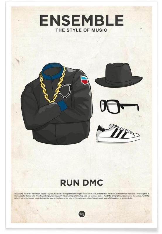 Run DMC Fashion Style Poster