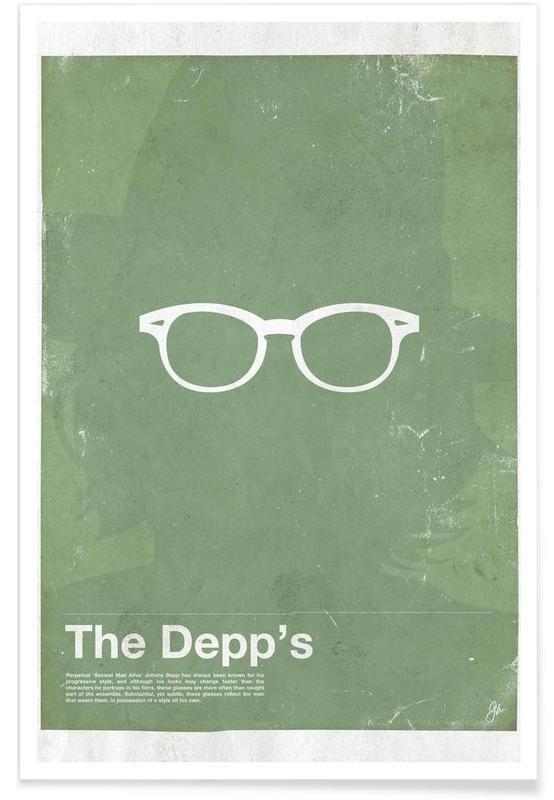 Johnny Depp-bril poster