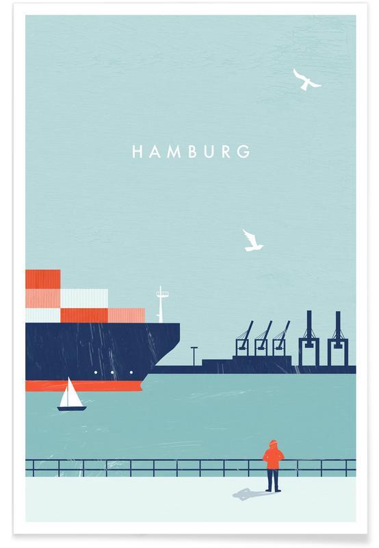 Retro Hamburg poster