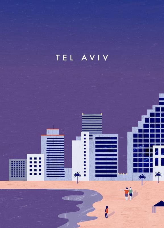 Tel Aviv -Leinwandbild