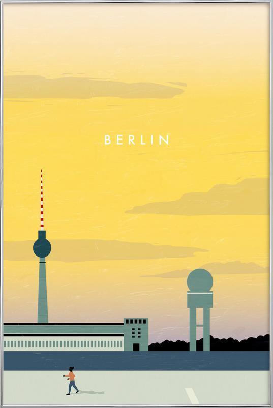 Berlin Poster im Alurahmen