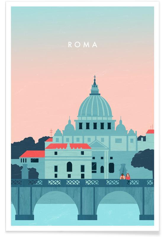 Rome - Rétro affiche