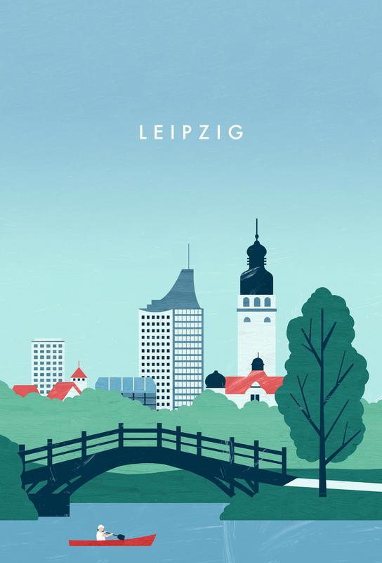 Leipzig Aluminium Print