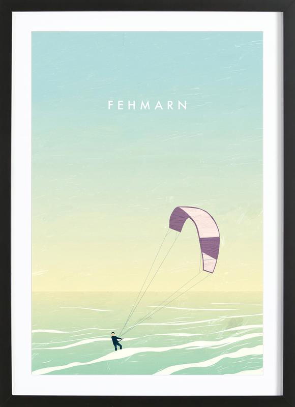 Fehmarn Premium Poster gerahmt