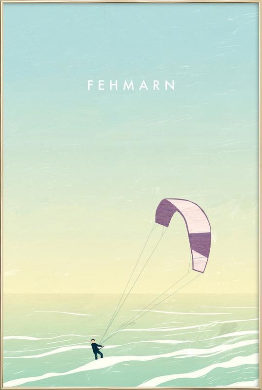 Fehmarn Poster im Alurahmen