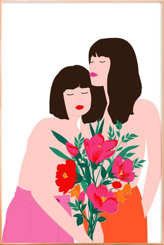 Spring Goddess -Poster im Alurahmen