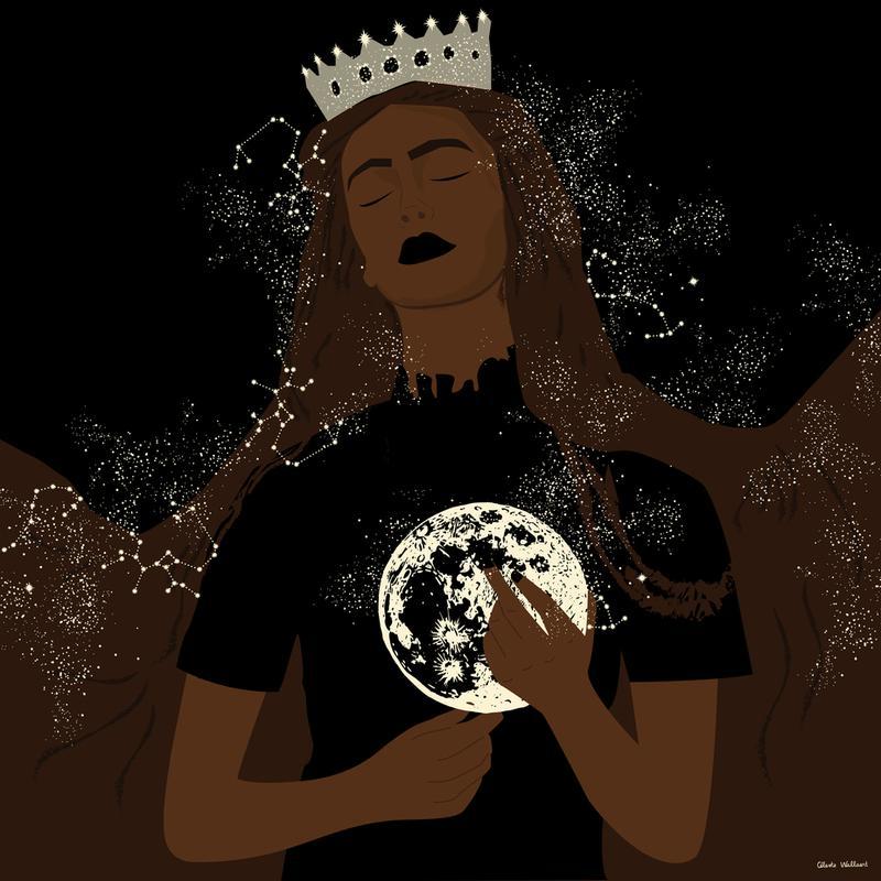 The Moon Queen Aluminium Print