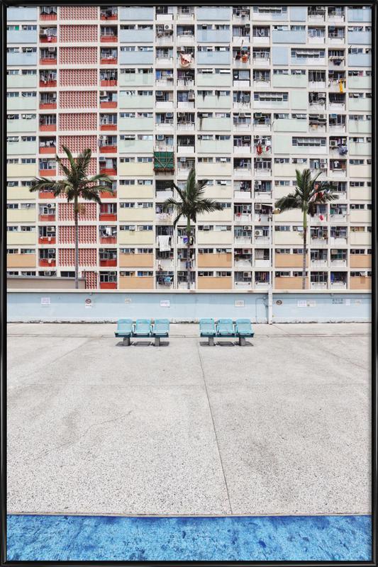 Pastel Boulevard -Bild mit Kunststoffrahmen