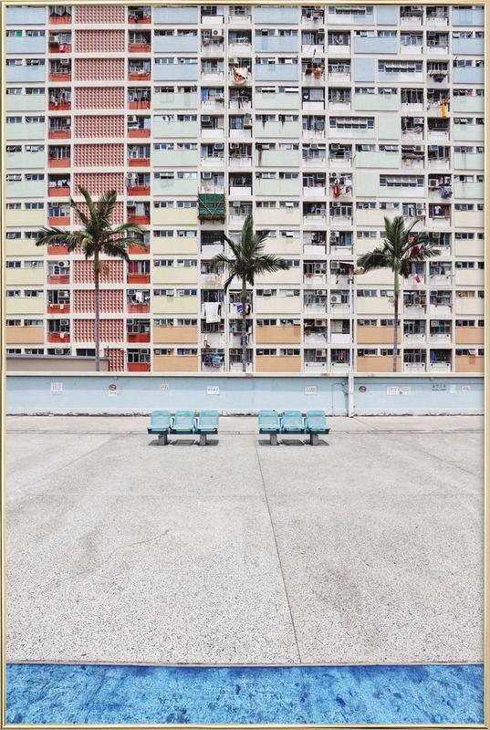 Pastel Boulevard -Poster im Alurahmen