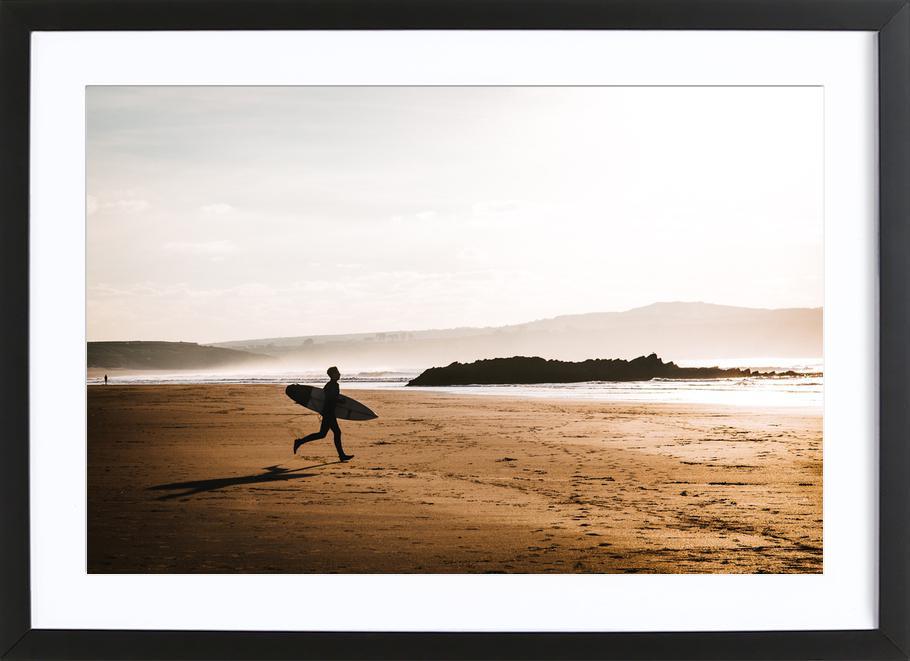 Evening Surf by @BeerSargent -Bild mit Holzrahmen