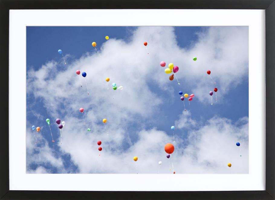 Balloons -Bild mit Holzrahmen