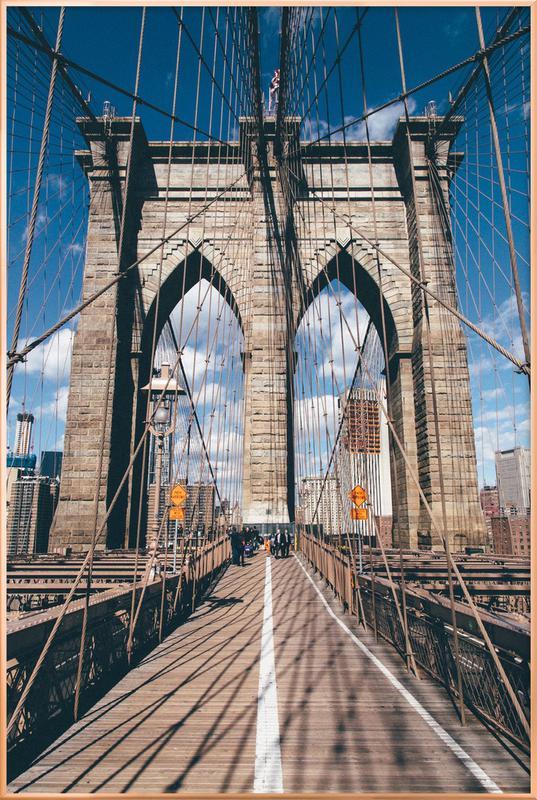 Crossing the Bridge Poster in Aluminium Frame