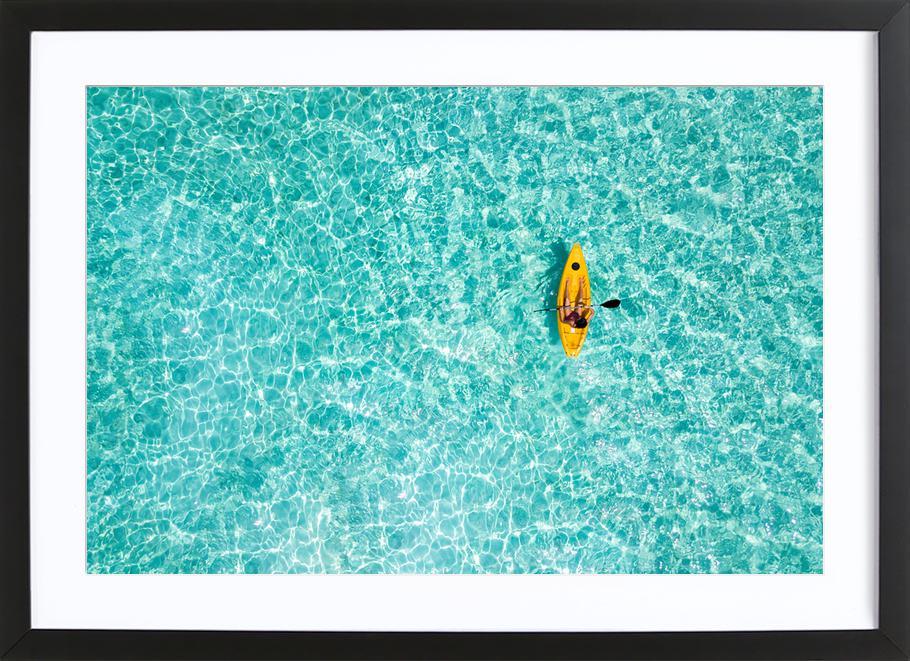 Paddle by @moofushi -Bild mit Holzrahmen