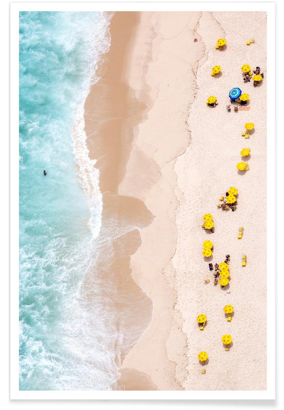 Strand luchtfoto poster