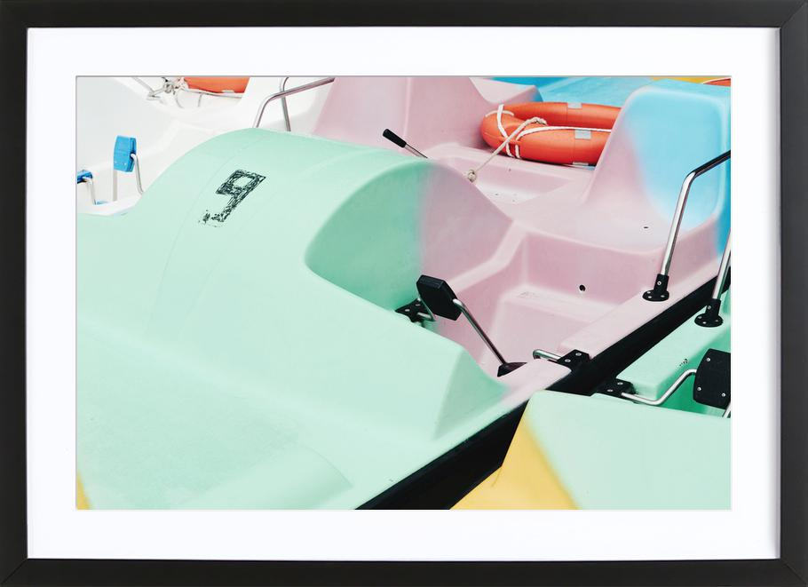 Pastel Power by @arnowoe -Bild mit Holzrahmen
