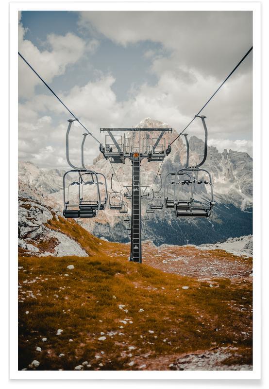 Skilift Photograph Poster
