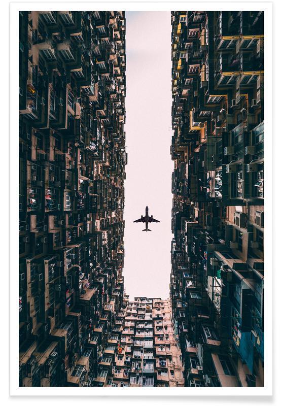 Photographie d'avion affiche