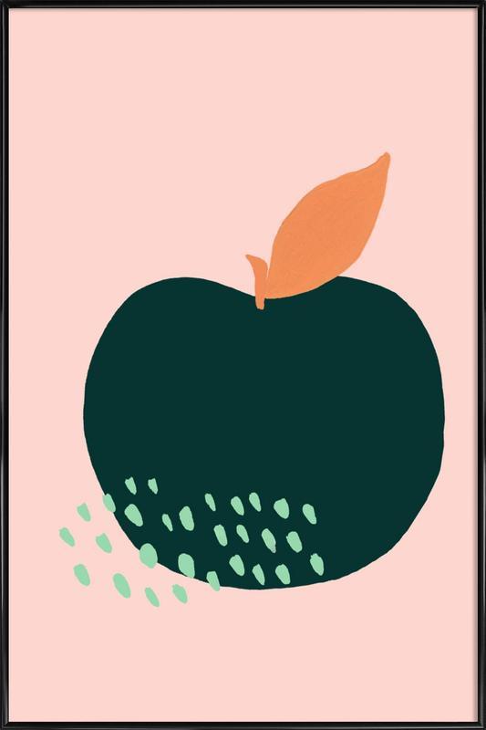Joyful Fruits - Apple Framed Poster