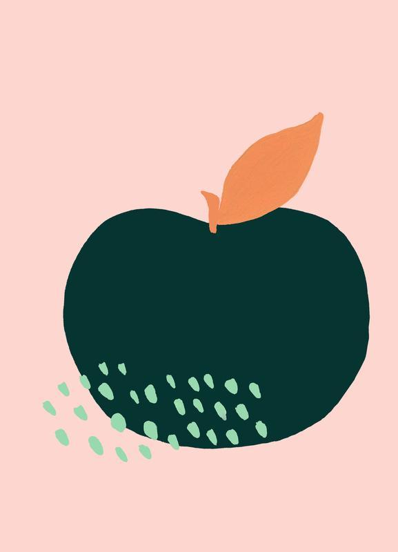 Joyful Fruits - Apple Canvas Print