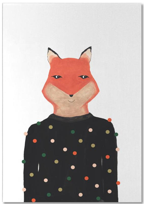 Fox with Sweater -Notizblock