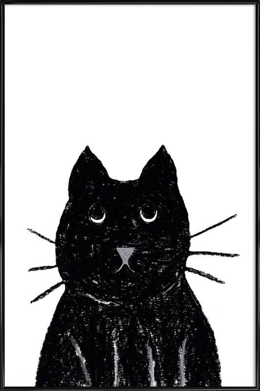 Innocent Cat Framed Poster