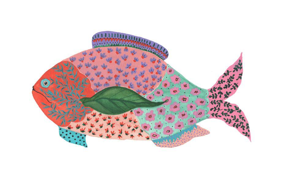 Fancy Fish Aluminium Print