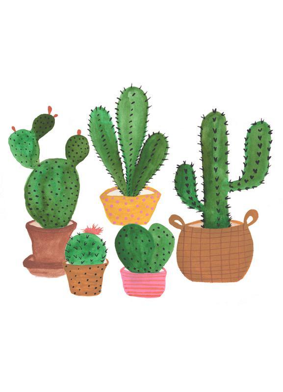 Cactus Family -Leinwandbild