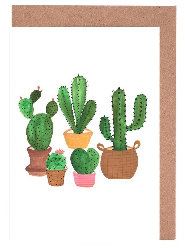 Cactus Family Greeting Card Set
