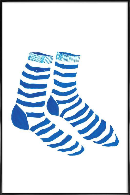 Striped Socks Framed Poster