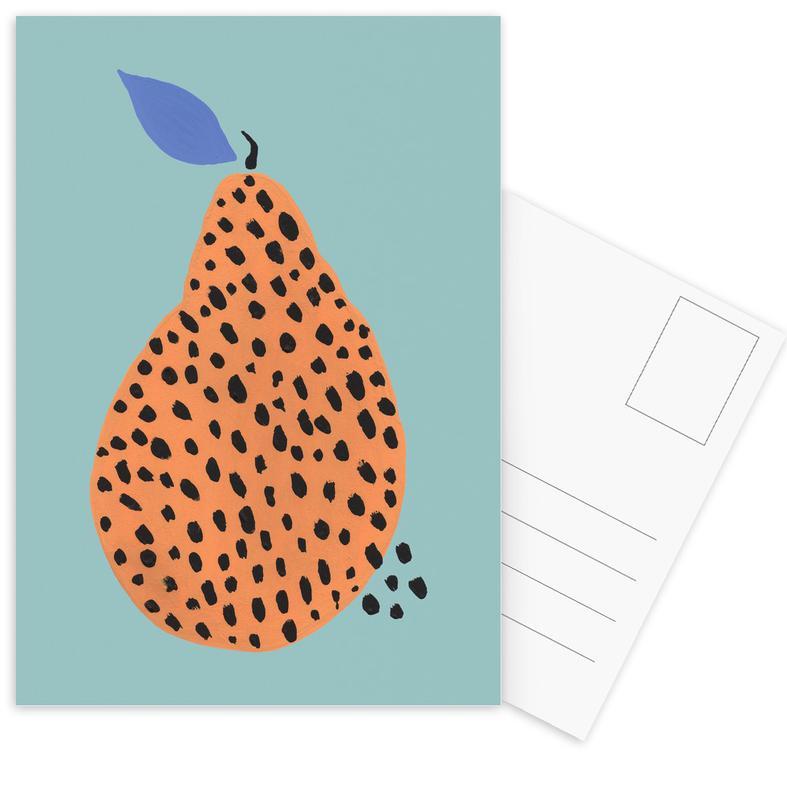 Joyful Fruits - Pear -Postkartenset