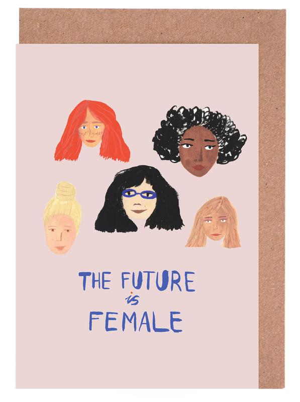 The Future is Female -Grußkarten-Set