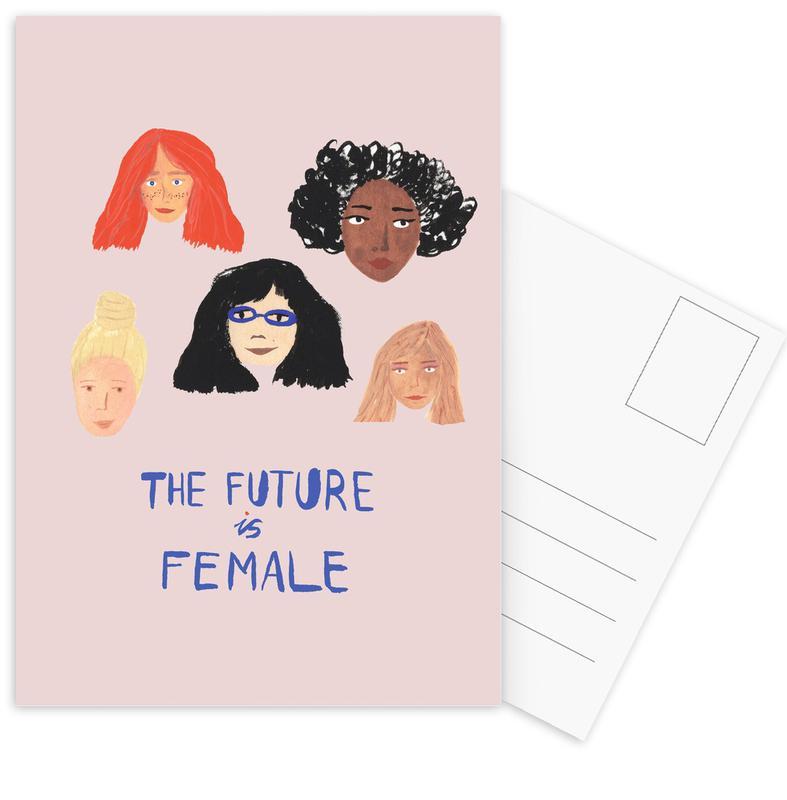 The Future is Female Postcard Set