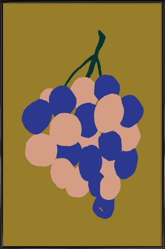 Joyful Fruits - Grapes -Bild mit Kunststoffrahmen