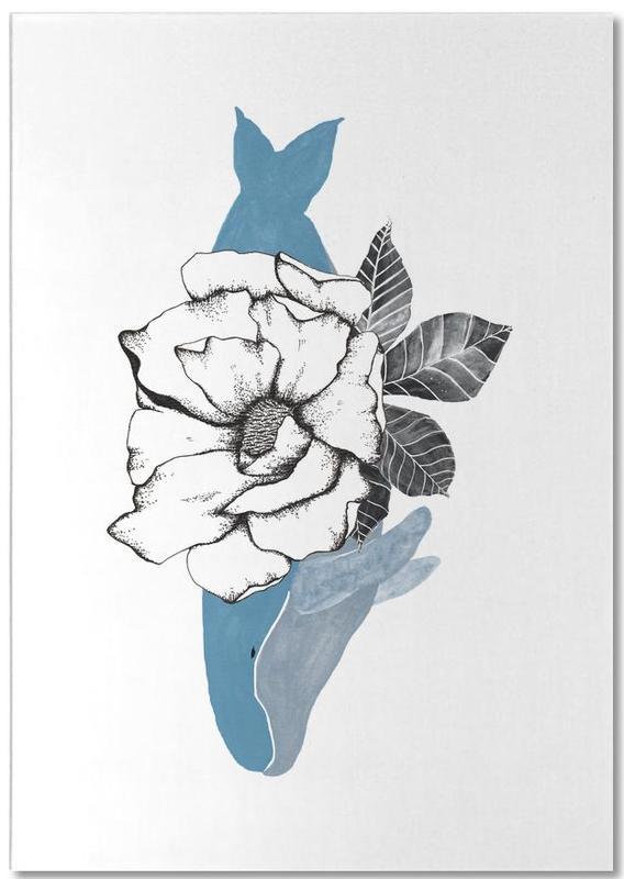 Floral Whale bloc-notes