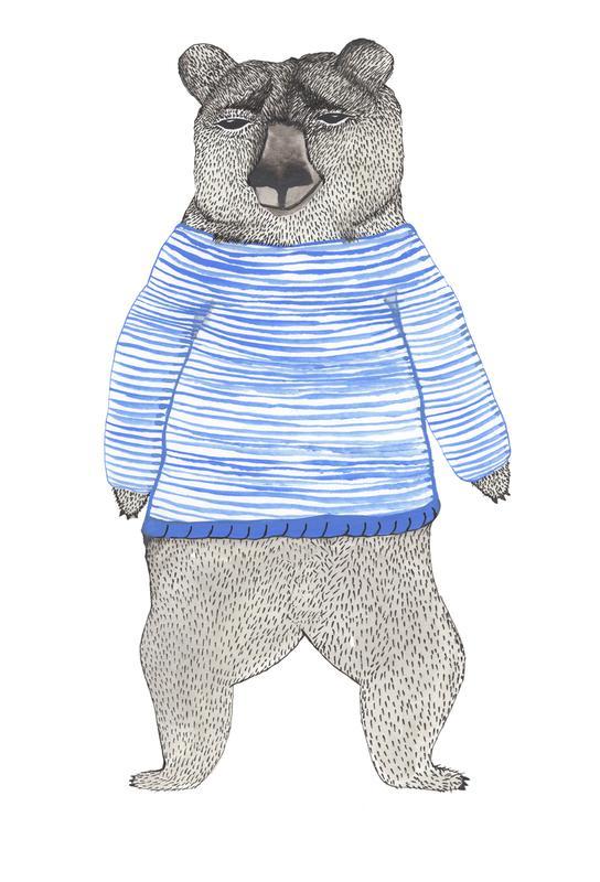 Bear with Stripes -Alubild