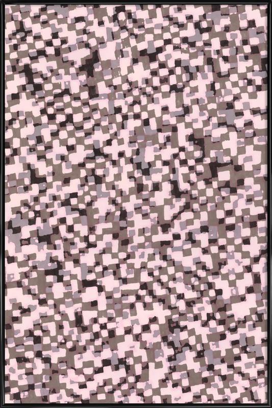 Sahkyi Black -Bild mit Kunststoffrahmen
