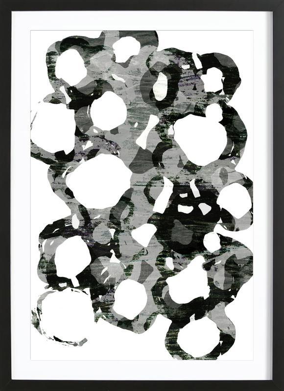 Paper Study I -Bild mit Holzrahmen