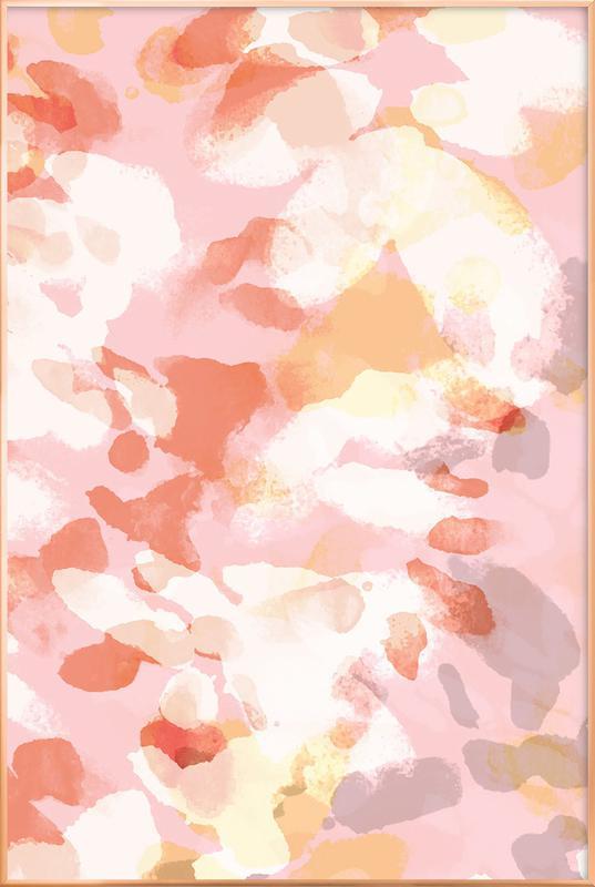 Floral Pastell -Poster im Alurahmen