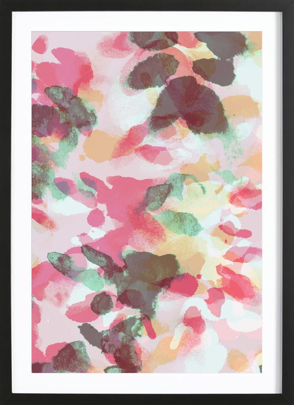Floral Aquaellic ingelijste print