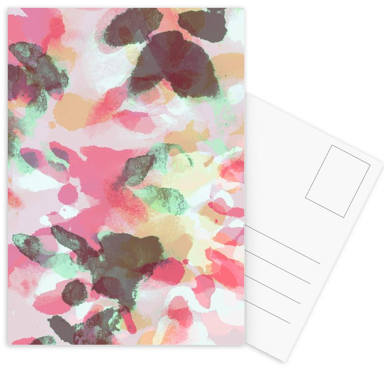 Floral Aquaellic Postcard Set