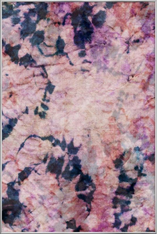 Textile Study Rosé -Poster im Alurahmen